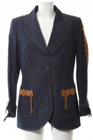 Escada Denim Blazer flecked jeans look
