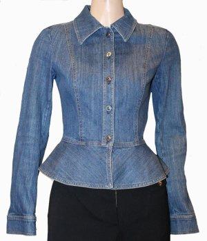 ESCADA JEANSJACKE Bluse Stretch blau Gr. 34