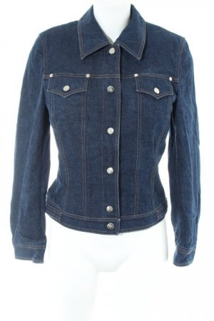 Escada Jeansjacke dunkelblau Street-Fashion-Look