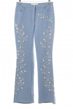 Escada Denim Flares flower pattern casual look