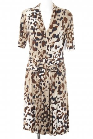 Escada Jerseykleid Leomuster Animal-Look