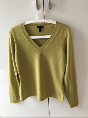 Escada Cashmere Jumper sand brown-lime yellow