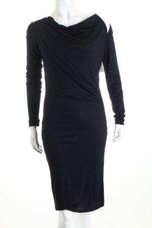 Escada Kleid dunkelblau-weiß Business-Look