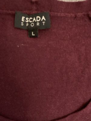 Escada Sweater met korte mouwen bordeaux