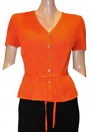 ESCADA kurzarm Strickjacke orange Gr. 38