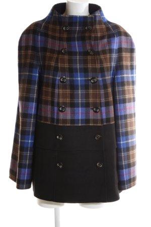 Escada Short Coat check pattern business style