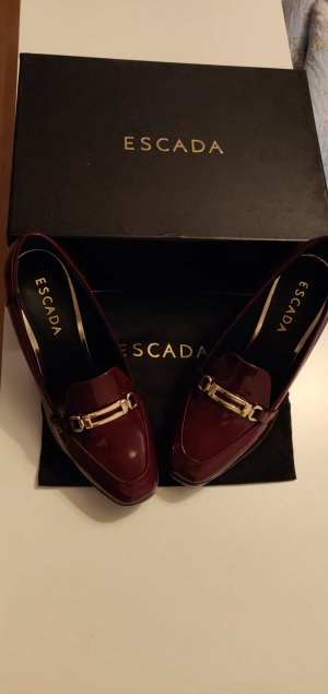 Escada Mary Jane Pumps bordeaux