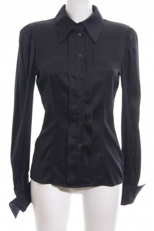 Escada Langarm-Bluse schwarz Business-Look