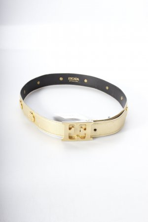 Escada Leather Belt gold-colored extravagant style