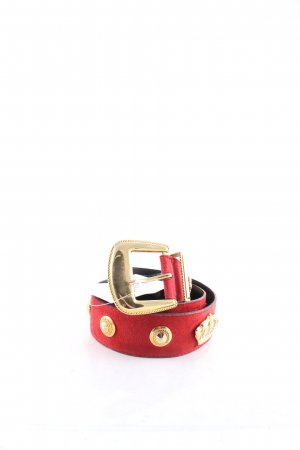 Escada Leather Belt red-gold-colored retro look