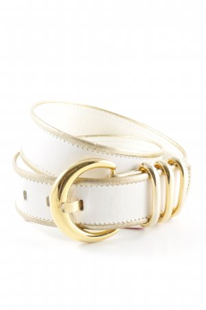 Escada Leather Belt white-gold-colored elegant