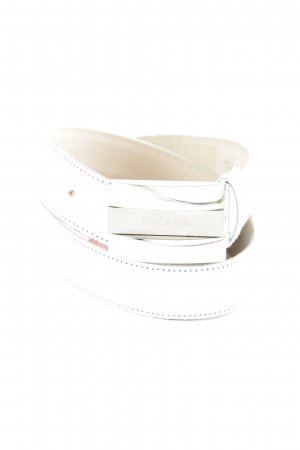Escada Faux Leather Belt silver-colored casual look