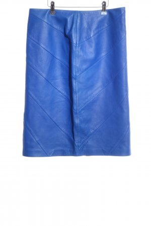 Escada Lederrock blau Casual-Look