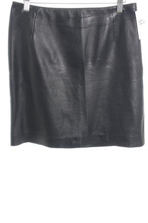 Escada Leather Skirt black elegant