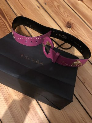 Escada limitierte Edition belt Gürtel Nieten Gold studded high waist Pink