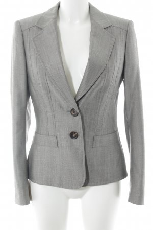 Escada Long-Blazer hellgrau-grau Hahnentrittmuster Business-Look