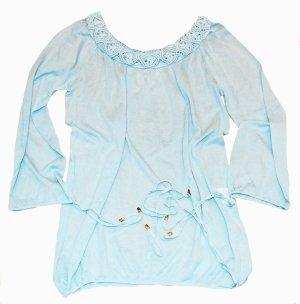 ESCADA Long- Shirt Strandshirt türkis leicht Gr. 36 - 40