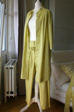 Escada Tailleur pantalone giallo lime Cotone