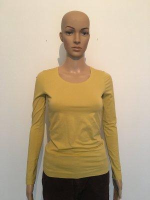 Escada longsleeve Baumwolle Stretch  Shirt Oberteil gelb lime Kiwi senf