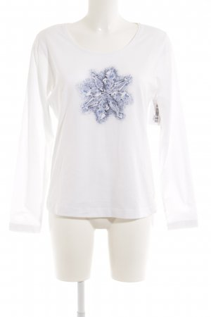 Escada Longsleeve weiß Motivdruck Casual-Look