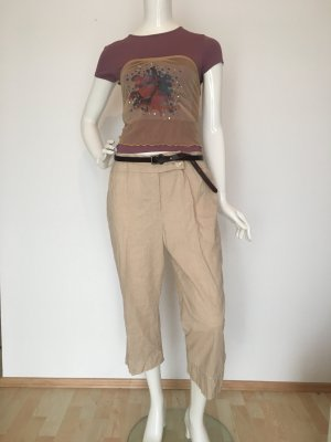Escada Pantalon en lin brun sable