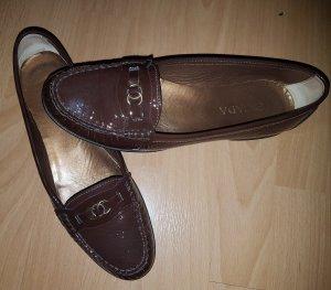 Escada Luxus Lackleder Loafer 39.5,Schnäppchen