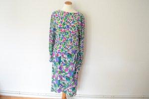 ESCADA Luxus Vintage Seidenkleid 38 Midi Kleid Print Muster