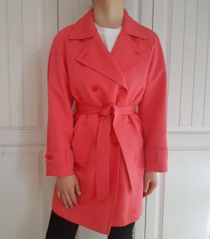 Escada Mantel Trenchcoat trench coat rosa pink true vintage oversize Jacke pulli pullover bluse hemd