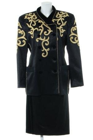 Escada Margaretha Ley Kostüm schwarz-goldfarben extravaganter Stil