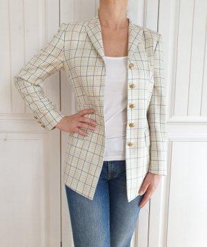 Escada Margaretha Ley Limited Edition Seide True Vintage Blazer Jaket Jacket Jacke jakett blouson sakko kariert