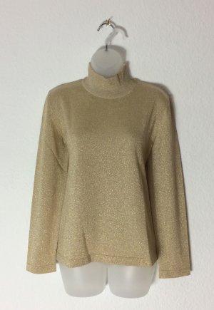 Escada Margaretha Ley Pull-over à col roulé doré laine vierge
