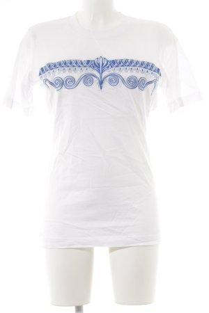 Escada Margaretha Ley T-Shirt abstraktes Muster Casual-Look