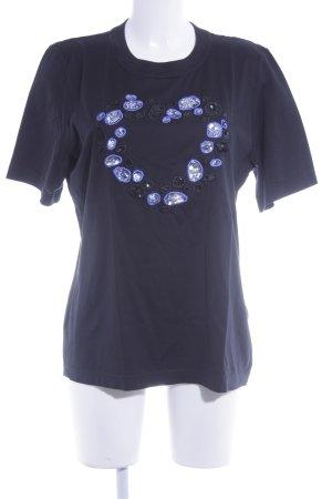 Escada Margaretha Ley T-Shirt schwarz extravaganter Stil
