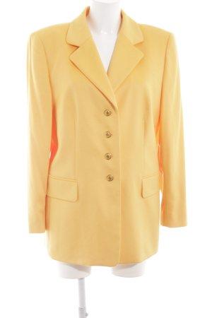 Escada Margaretha Ley Blazer in lana giallo pallido stile professionale