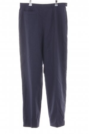 Escada Margaretha Ley Woolen Trousers blue striped pattern business style