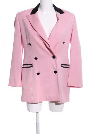 Escada Margaretha Ley Wollmantel pink-schwarz Business-Look