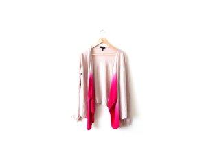 Escada Merino wolle Cardigan nude creme pink Gr. S M 36 38 40 Wasserfall offen