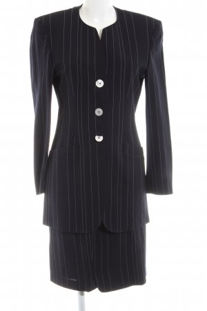 Escada Pinstripe Suit black striped pattern business style