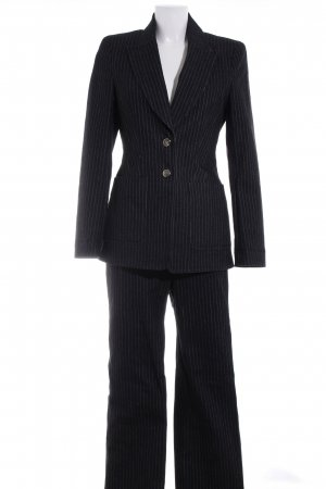Escada Pinstripe Suit black pinstripe Crochet detail