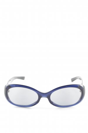 Escada Oval Sunglasses dark blue synthetic material