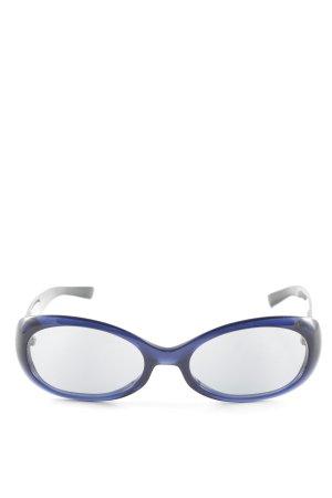Escada ovale Sonnenbrille dunkelblau abstraktes Muster Casual-Look