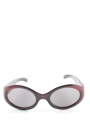 Escada Oval Sunglasses dark red casual look