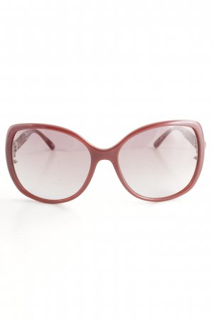 Escada Oval Sunglasses dark red-silver-colored elegant