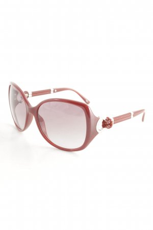 Escada ovale Sonnenbrille dunkelrot-silberfarben Elegant
