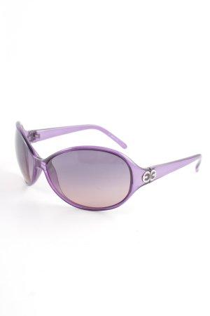 Escada Oval Sunglasses grey violet casual look