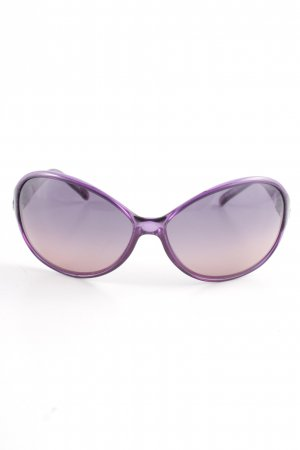 Escada Oval Sunglasses grey violet casual look