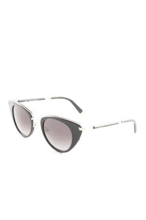 Escada ovale Sonnenbrille schwarz-goldfarben Retro-Look