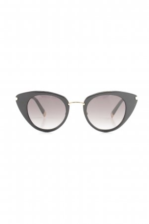 Escada Oval Sunglasses black-gold-colored retro look
