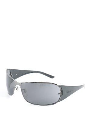 Escada ovale Sonnenbrille schwarz-himmelblau 90ies-Stil
