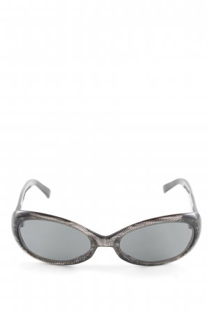 Escada Oval Sunglasses black printed lettering casual look